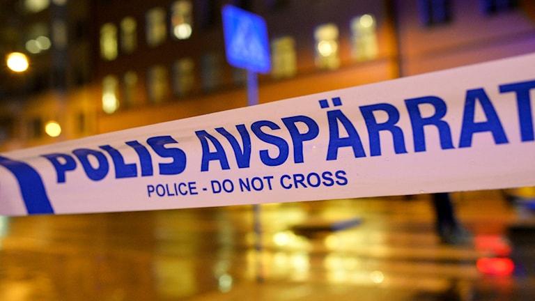 Полицейское оцепление на месте другого подрыва в Мальмё. Фото: Johan Nilsson/TT