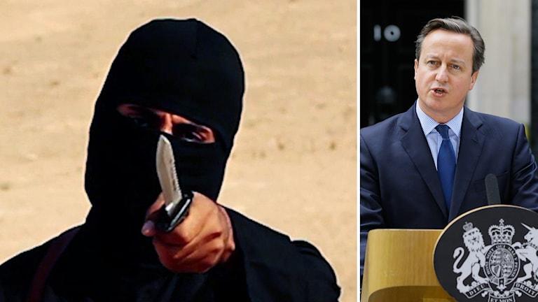 """Den brittiske premiärministern David Cameron säger att """"Jihadi John"""" med stor sannolikhet har dödats. Foto: TT."""