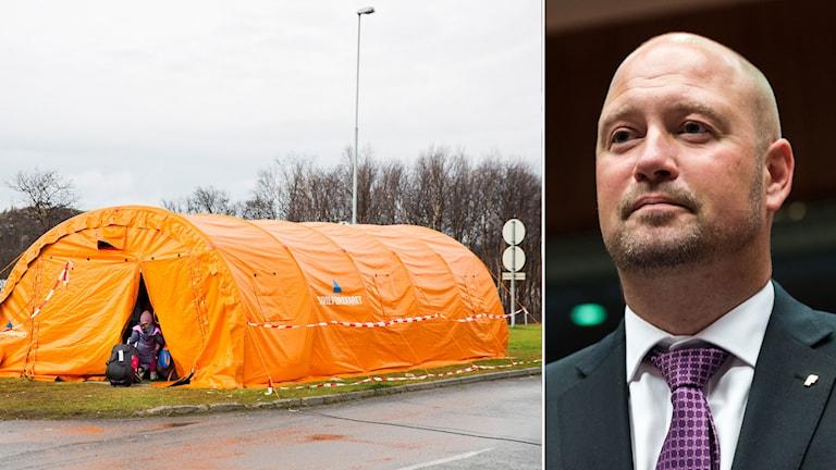 Norska myndigheter ska få ökade möjligheter att låsa in asylsökande som antingen redan har fått nej på sin ansökan eller som bedöms komma att få det. Foto: Tore Meek/ NTB samt Virginia Mayo / TT
