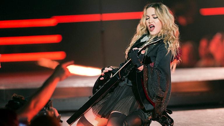 Madonna spelar i Montreal, Kanada i september 2015. Foto: TT.