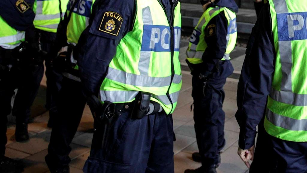 Svenska poliser. Foto: Stig-Åke Jönsson/TT.