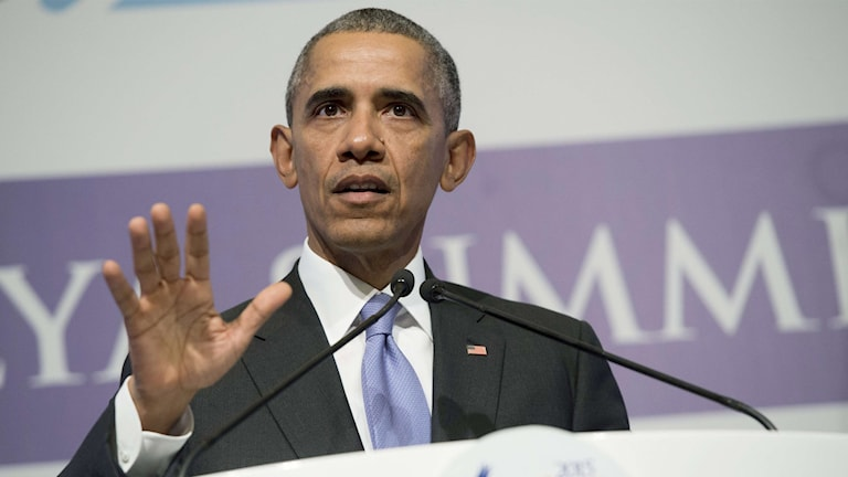 Obama vid presskonferensen vid G20-mötet i dag.