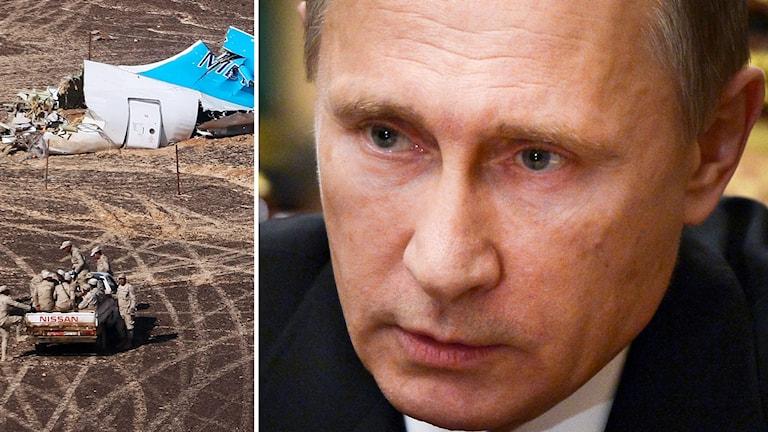 Putin trappar upp den ryska kampen mot IS. Foto: TT.