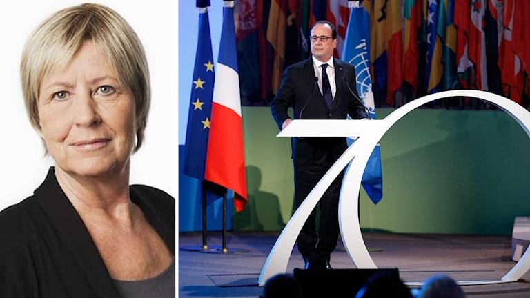 Hollande vädjar om hjälp. Foto: TT.
