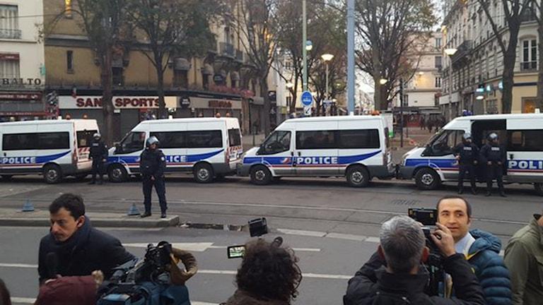 Polisinsats i Paris. Foto: Fernando Arias.