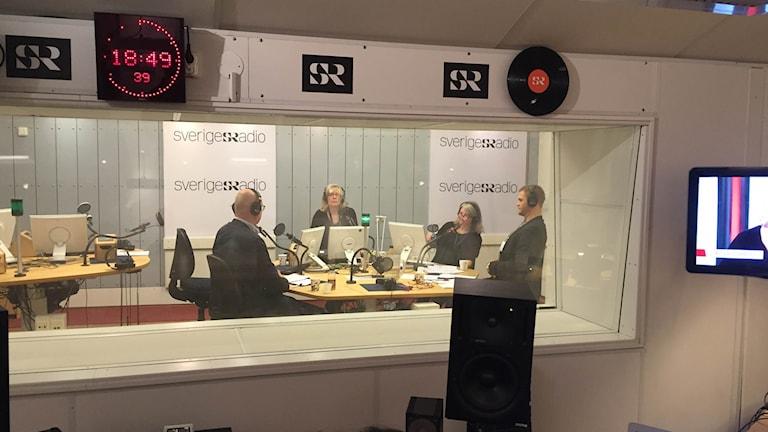 Studio 15, extrasändning. Foto: Sveriges Radio