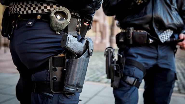 Norsk polis. Foto: Erlend Aas/TT.
