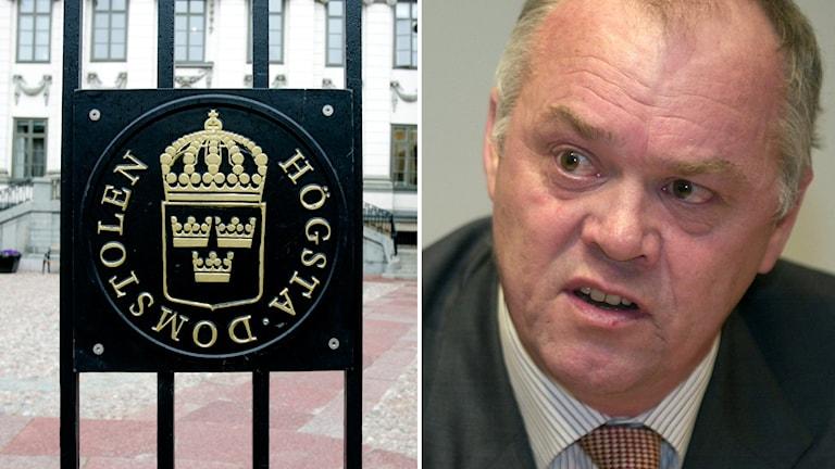 Högsta domstolen och Stefan Lindskog. Foto: Pontus Lundahl/TT och Claus Gertsen /TT
