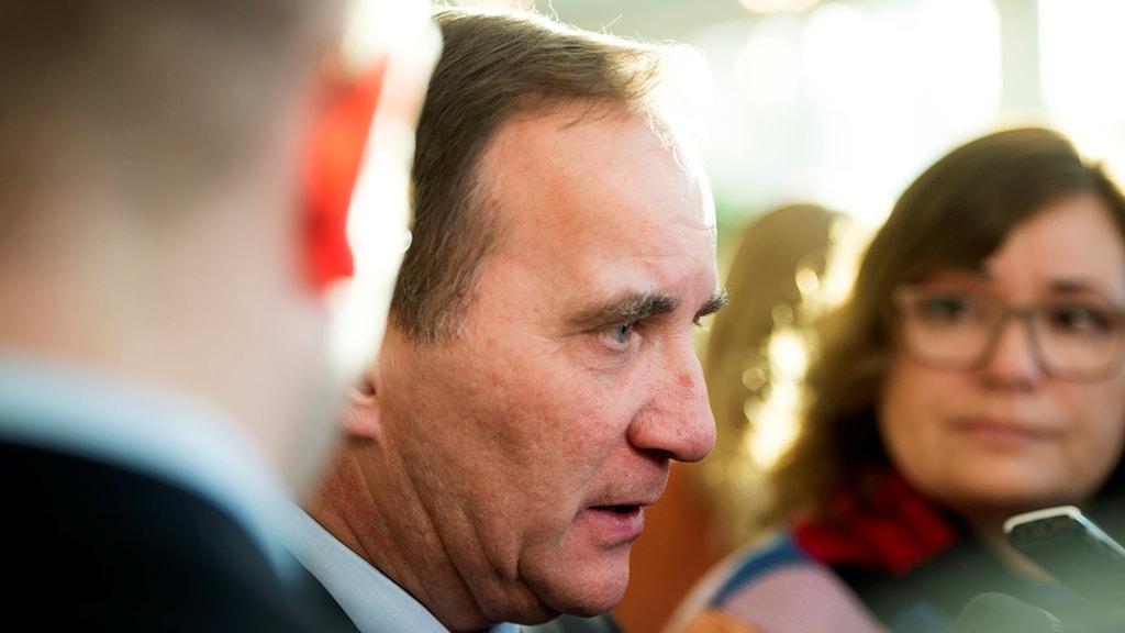 Statsminister Stefan Löfven. Foto: Henrik Montgomery/TT.