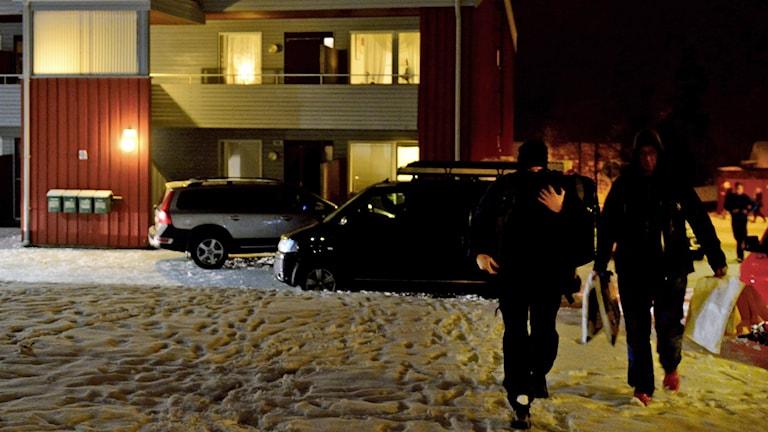 Stort polispådrag i Boliden. Foto: Robert Granström/TT.