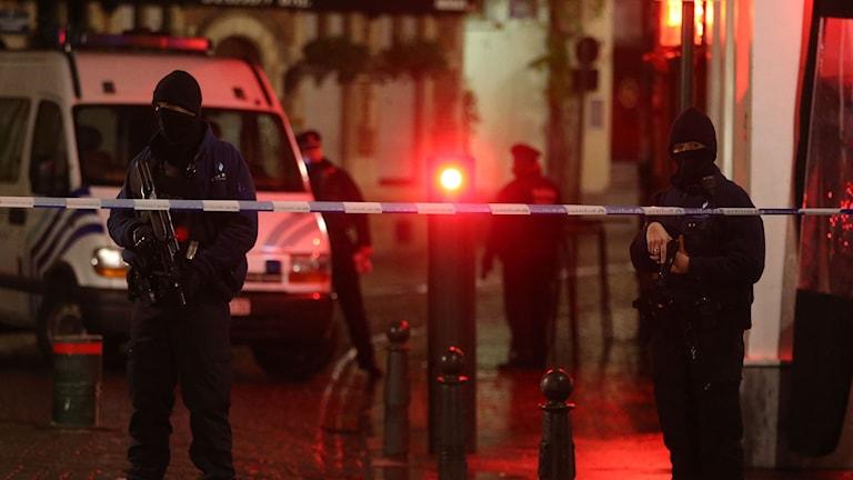 Polisinsats i Bryssel. Foto: Nicolas Maeterlinck/TT.