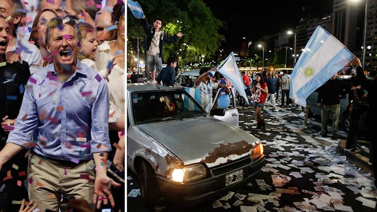Argentinas nya president, Mauricio Macri firar. Foto: TT.