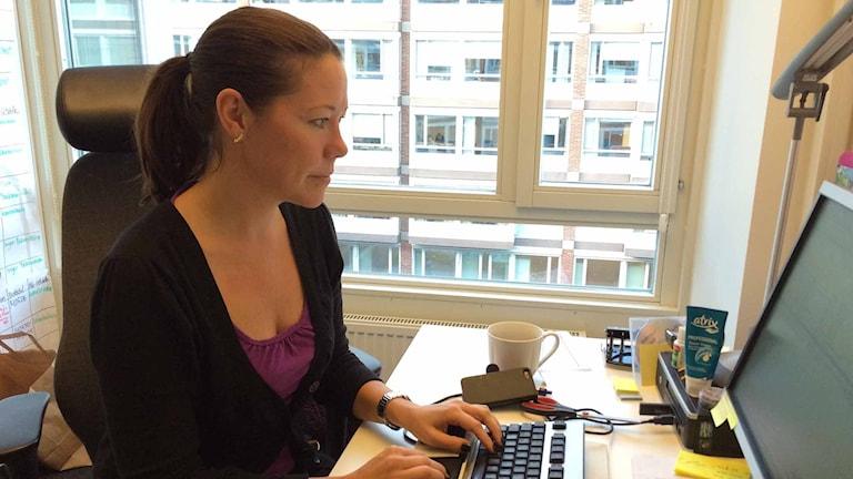 Ulrika Hammarin, utredare Citypolisen. Foto: Karin Wettre/Sveriges Radio,