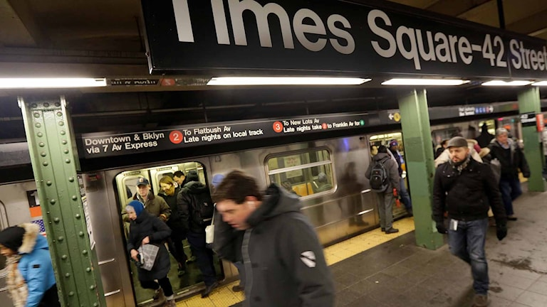 Tunnelbanan i New York.Foto: Richard Drew/TT.