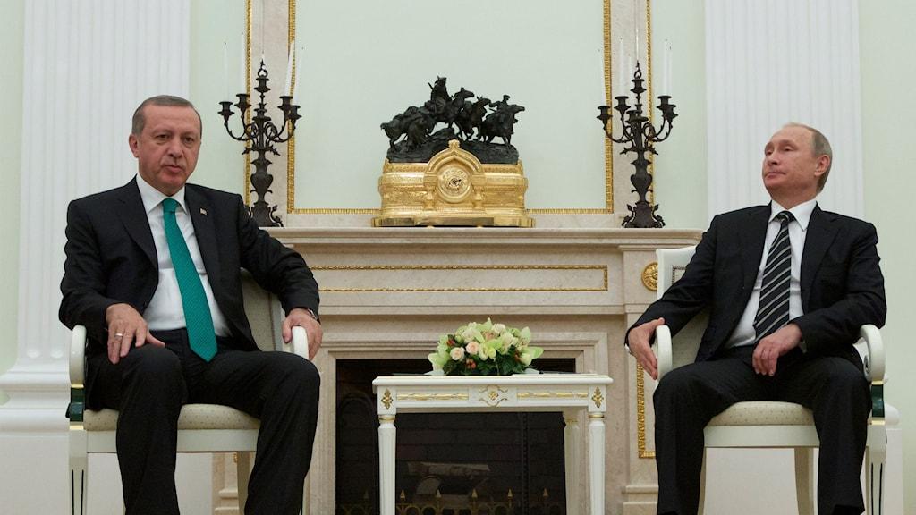 Putin och Erdogan från tidigare i år.