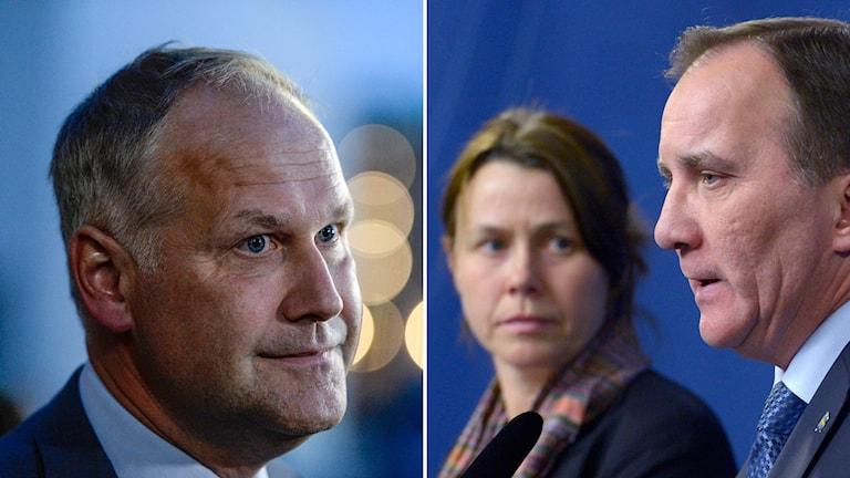 Jonas Sjöstedt är missnöjd med regeringens migrationsbesked. Foto: TT.