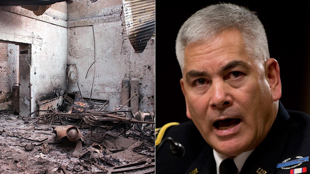 Natogeneralen John Campbell om Kunduzbombningarna: Ett misstag. Foto: Carolyn Kaster/AP, Najim Rahim/AP