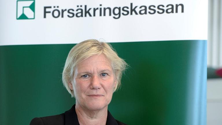 Leiter der Försäkringskassan Ann-Marie Begler. Foto Bertil Ericson / TT