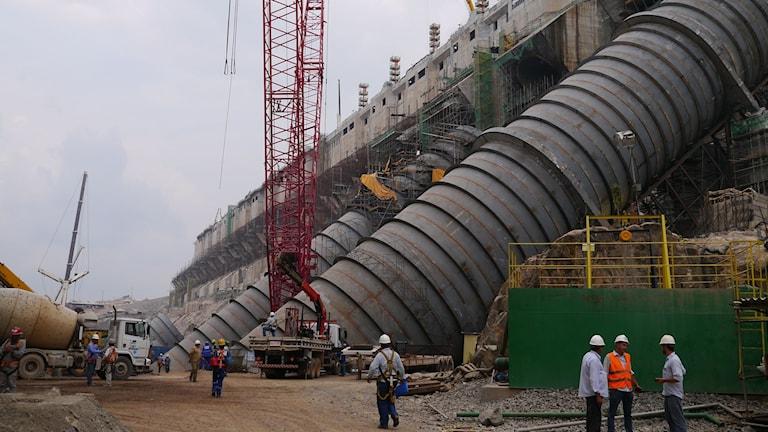 Vattenkraftverket Belo Monte. Foto: Lotten Collin/Sveriges Radio.
