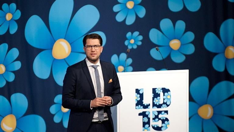 immie Åkesson på Sverigedemokraternas landsdagar.