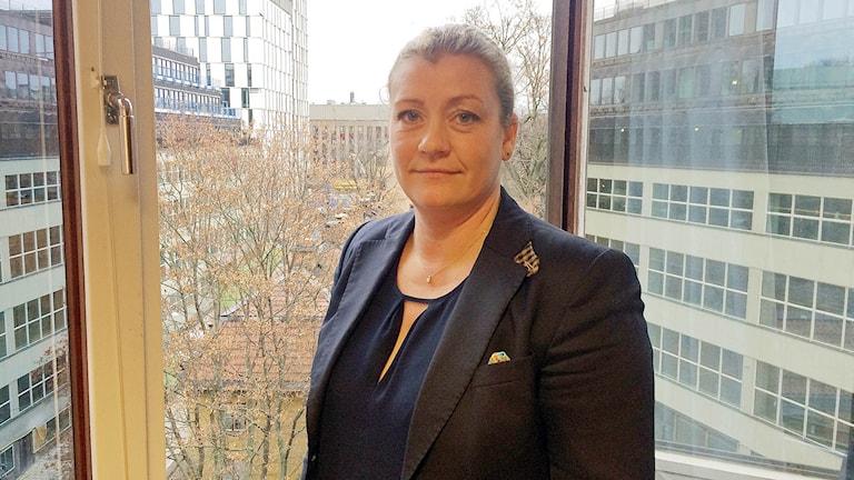 Anna Nellberg-Dennis 1:e vice ordförande i Polisförbundet. Foto: Maria Repitsch/Sveriges radio