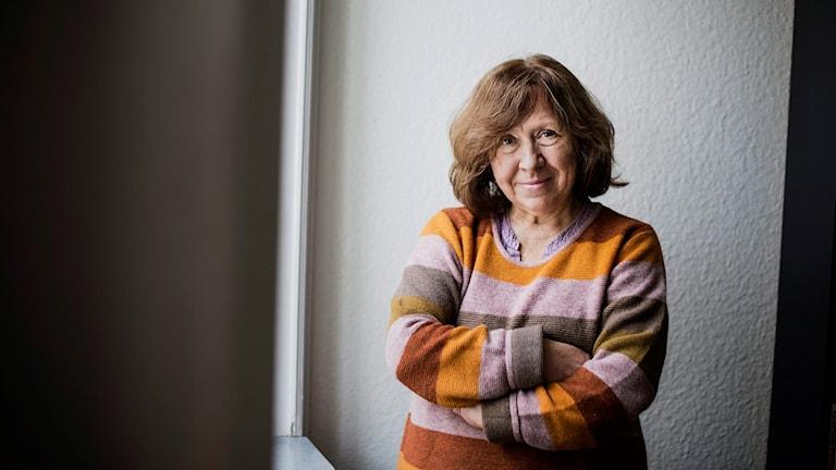 Vitryska författaren och Nobelpristagaren Svetlana Aleksijevitj. Foto: Vilhelm Stokstad / TT