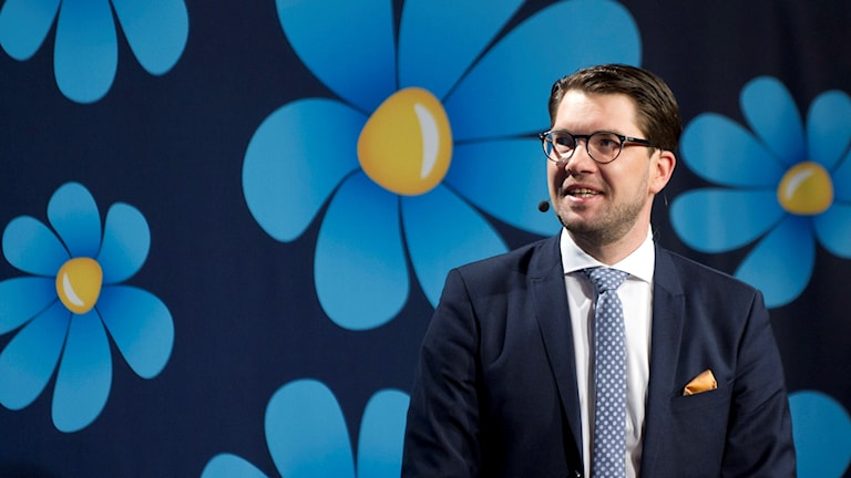 Sweden Democrat leader Jimmie Åkesson. Photo Björn Lindgren / TT