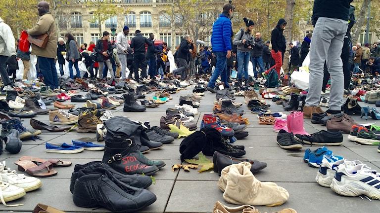 Skor på manifestation i Paris