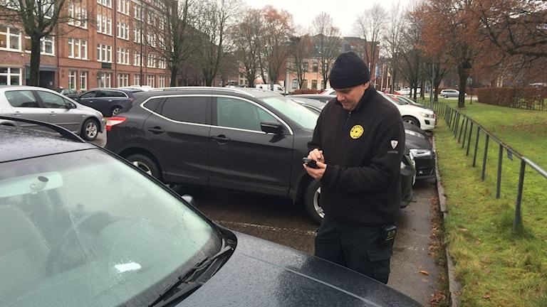 Parkeringsvakt Stefan Andersson i Borås