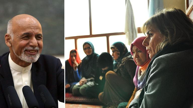 Ashraf Ghani och Isabella Lövin