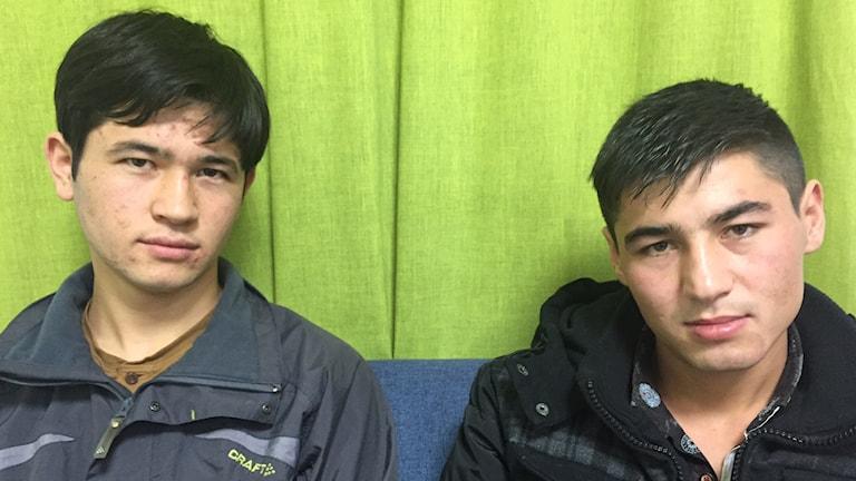 Två afghanska flyktingbarn. Foto: Johan-Mathias Sommarström/Ekot.