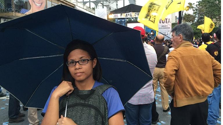 Adriana Campin studerar till apotekare i Caracas