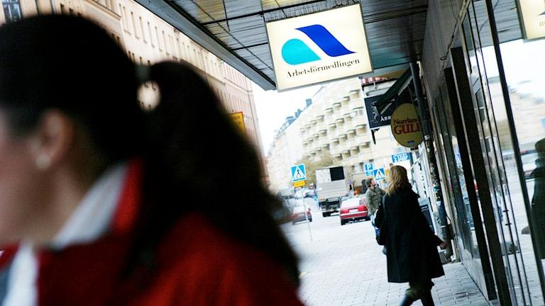 Arbetsförmedlingen. Foto: Henrik Montgomery/TT.