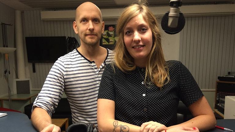Joel Wendle och Magdalena Brander i P4-studio
