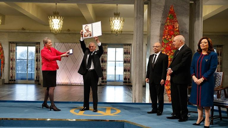 Fredspriset delas ut till Tunisiens nationella fredskommitté