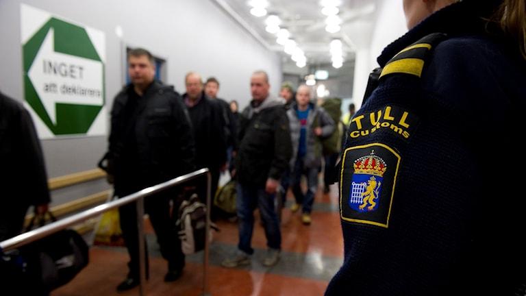 Таможня на границах Швеции не вооружена: нужно вооружить считают её уполномоченные. Фото: Pontus Lundahl/TT