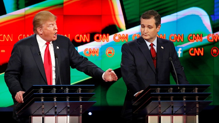 Donald Trump och Ted Cruz. Foto: John Locher/AP.