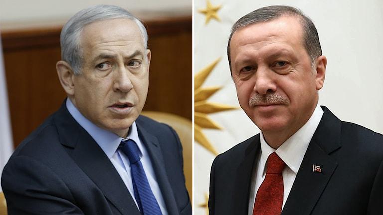 delad bild på två män i kostym. Foto: Baz Ratner/AP samt Murat Cetinmuhurdar/AP