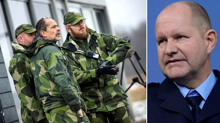 Gensvaret från militären är positivt, enligt Dan Eliasson. Foto: TT