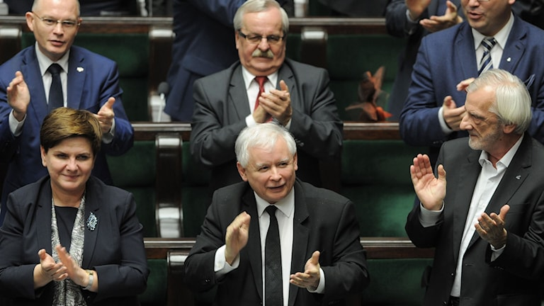 Ledamöter i Polens parlament. Foto: Alik Keplicz/TT.