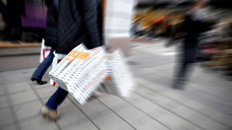 Holiday shopping in Stockholm. Photo: Hasse Holmberg/TT.