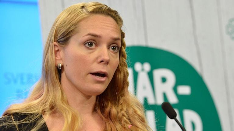 Centerpartiets migrationspolitiska talesperson Johanna Jönsson. Foto: Jonas Ekströmer/TT.