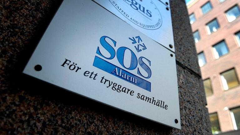 Bild på SOS-alarmskylt