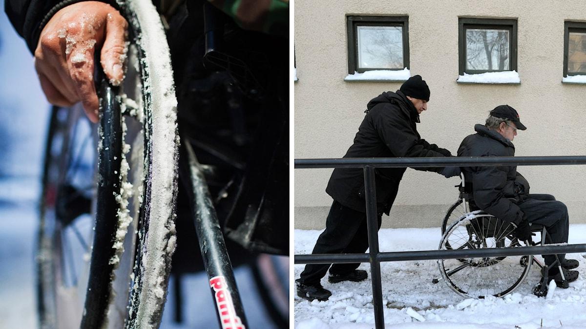 Rullstol. Foto: Simon Paulin/TT och Janerik Henriksson/TT