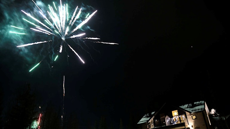 Nyårsfyrverkeri i Åre. Foto: Pontus Lundahl/TT.