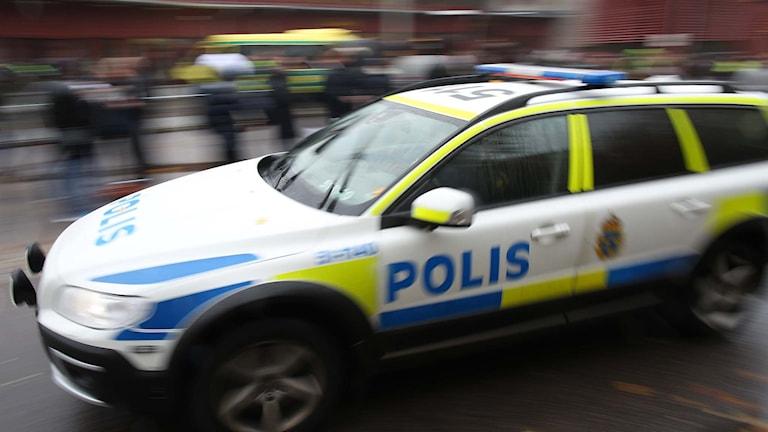 En polisbil. Foto: Björn Larsson Rosvall/TT.