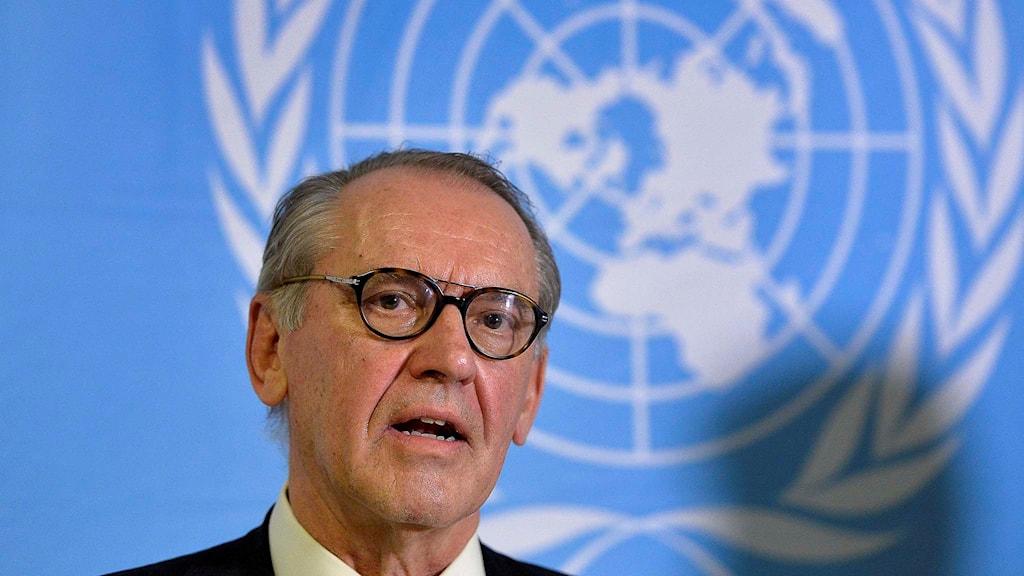 Jan Eliasson, vice generalsekreterare för FN. Foto: Anders Wiklund/TT.