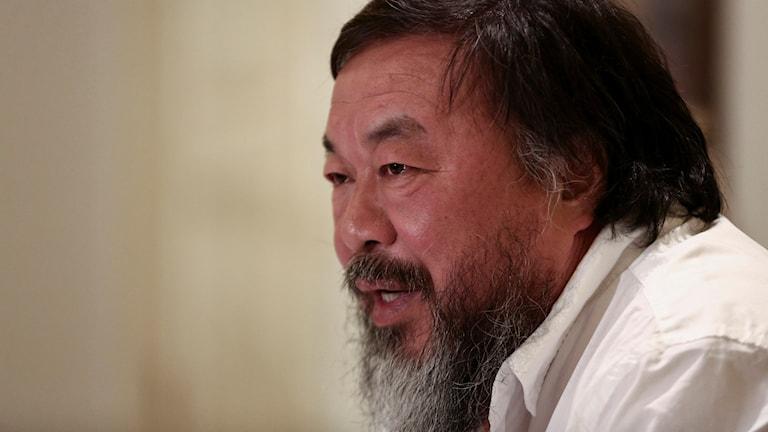 Närbild på Ai Weiwei. Foto: AP
