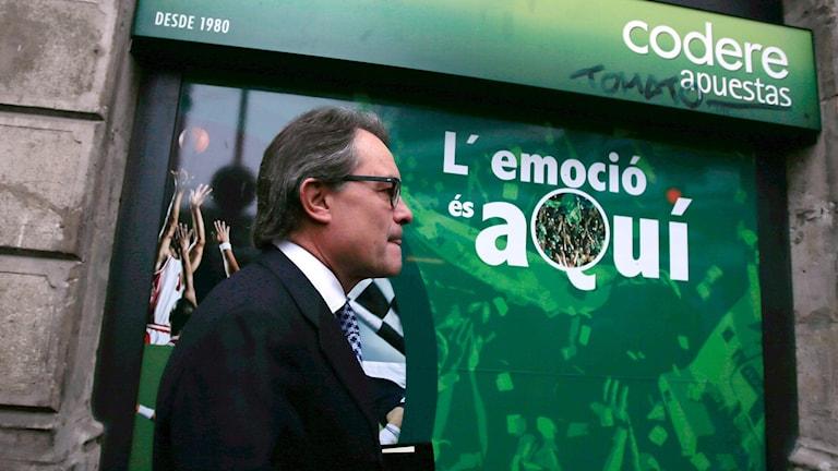 Regionpresidenten Artur Mas är en frontfigur för separatisterna i Katalonien.