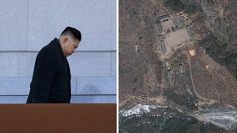 Kim Jong-Un och anläggningen Punggye-ri. Foto: David Guttenfelder/Scanpix.